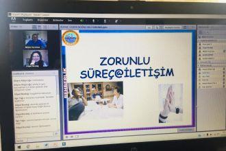 8.sınıf Velilerimiz ile sınıflar bazında Rehberlik Servisi ve Sınıf öğretmenleri ile online seminerlerimizi gerçekleştirdik.